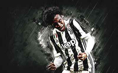 Download wallpapers Juan Cuadrado, Juventus FC, midfielder, joy, white stone, famous footballers, football, Colombian footballers, grunge, Serie A, Italy, Cuadrado besthqwallpapers.com