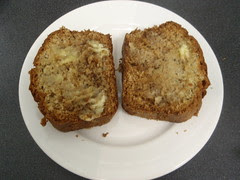 two pieces with butter
