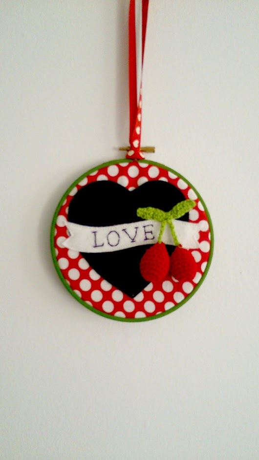 Sale Handmade Love Hoop Art was 15.75 Rockabilly by Madebydolly
