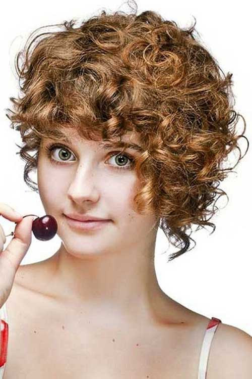 48 Short Haircut Curly Round Face