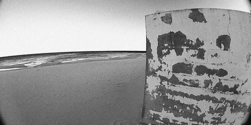 El muro de la playa