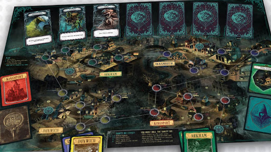 Lovecraft skinned boardgame based on Pandemic - Blogpost  - Lovecraft Stories