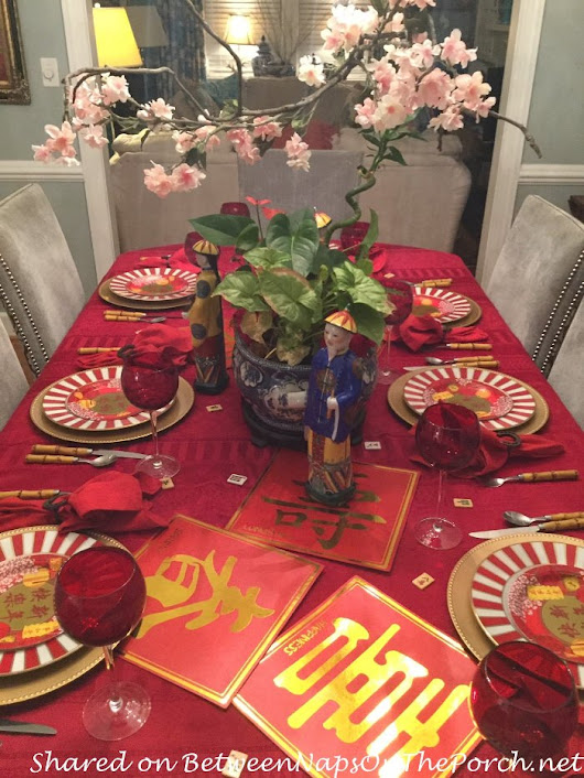 A Tablescape to Celebrate the Chinese New Year, Followed by a Fun Game of Mahjong