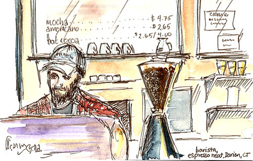 Barista at Espresso Neat, Darien, CT