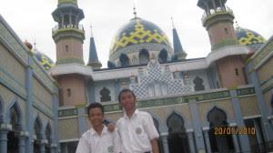 saat di masjid Agung tuban