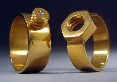 Mating Nut & Bolt Wedding Bands
