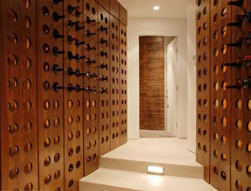 Mid-Century Modern Inspired Wine Cellar - Wine Design
