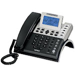 Cortelco 122000-TP2-27S 12 Series Two Line Caller ID Business Telephone with 7.5v AC Adapter