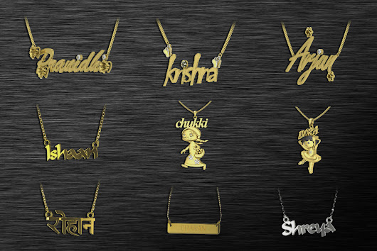 Custom made Name Pendants in India : Buy it in 6 simple steps