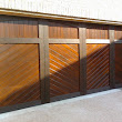 Real wood overhead garage doors