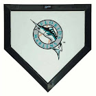 Schutt MLB Florida Marlins Mini Home Plate