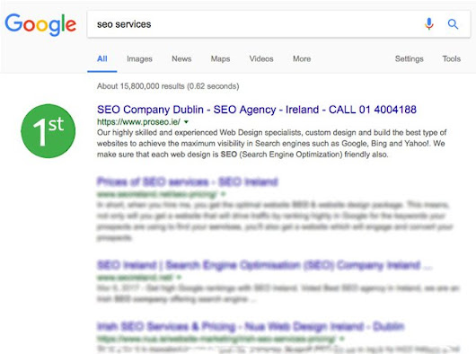 SEO Ireland - Irish Search Engine Optimisation - 01 4004188