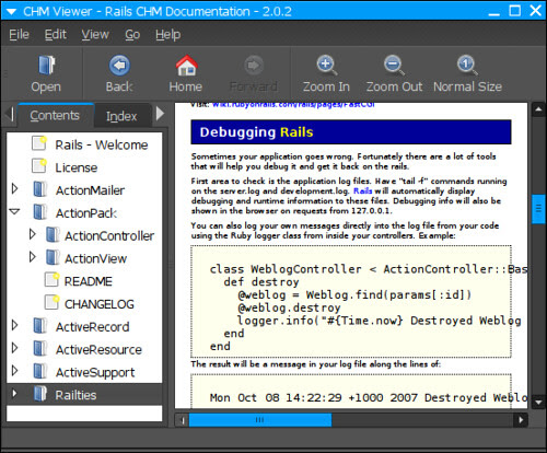 CHM viewer on GNOME