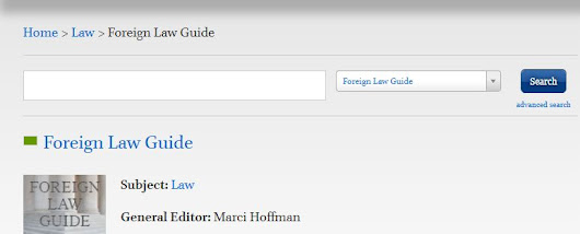 Resource Spotlight: Foreign Law Guide
