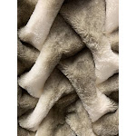 "Soft Hand Crafted Faux Fur Chinchilla Feel Throw 50"" x 60"" / Two-tone Gray Beige"
