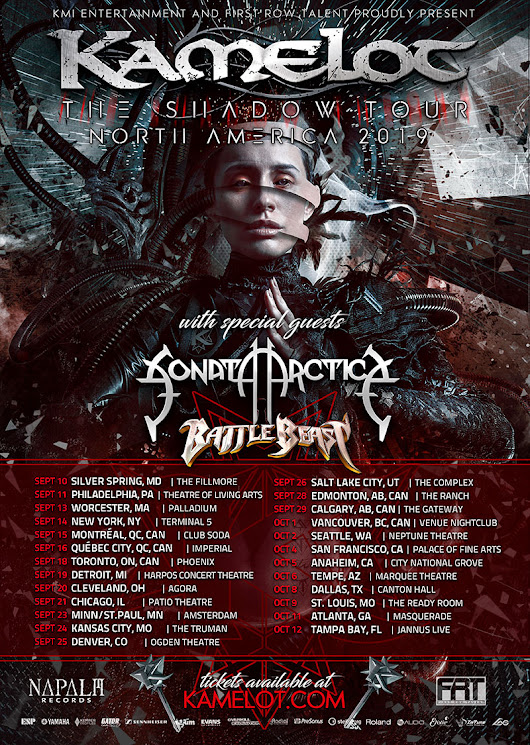 "Kamelot to announce second North American leg of ""The Shadow Tour"" – Official Kamelot Website"