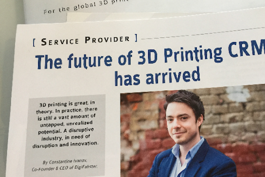 The future of 3D printing CRM's