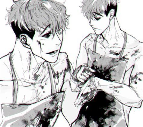 bloody anime boy guro killing stalking killing stalking