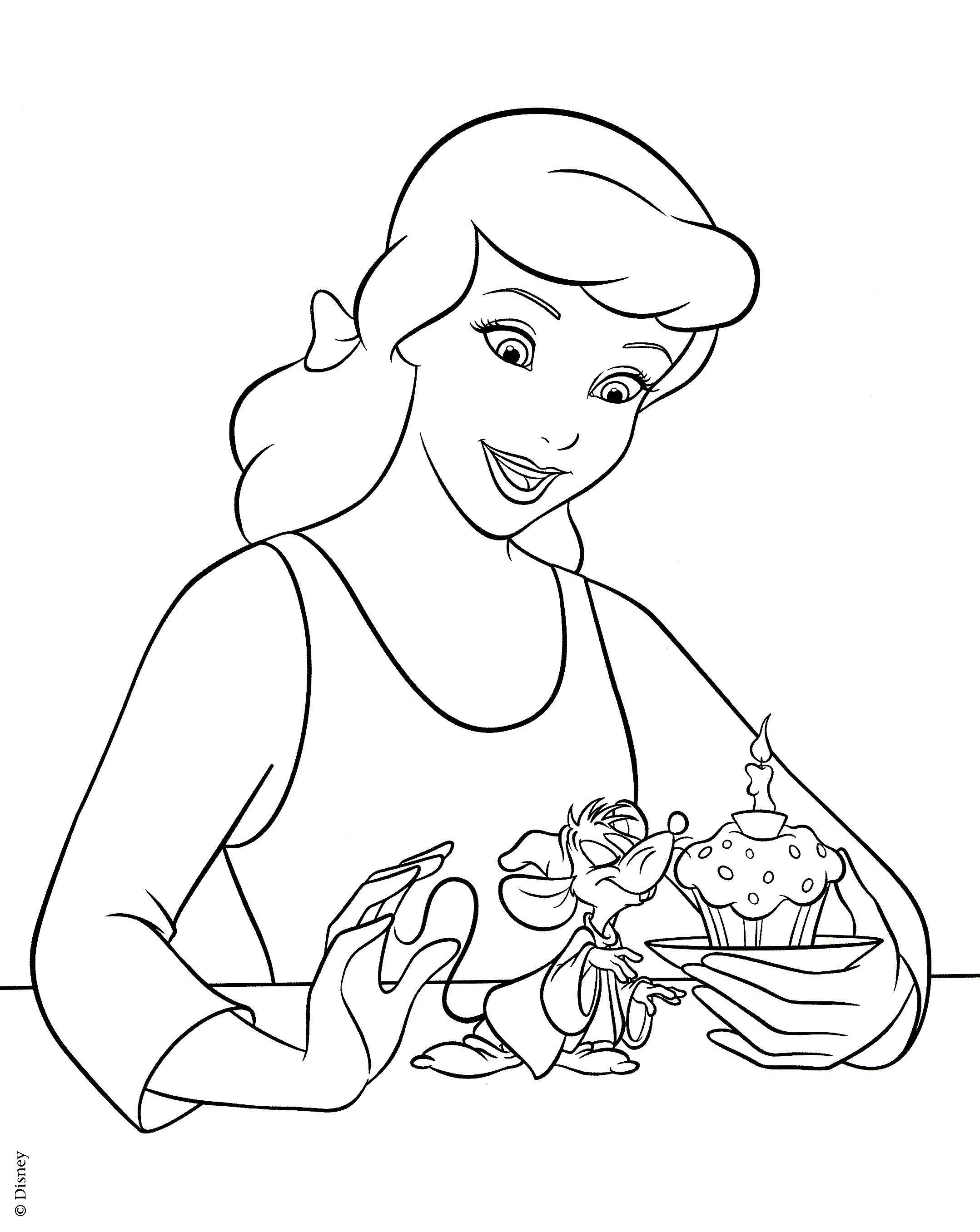 Cinderella Disney Coloring Pages At Getdrawingscom Free For