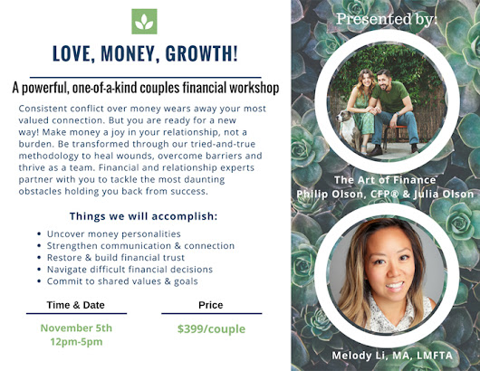 Love, Money, Growth! A One-of-a-Kind Couples Financial Workshop in Austin – Austin Counseling & Couples Therapy – Melody Li, Licensed Marriage & Family Therapist Associate