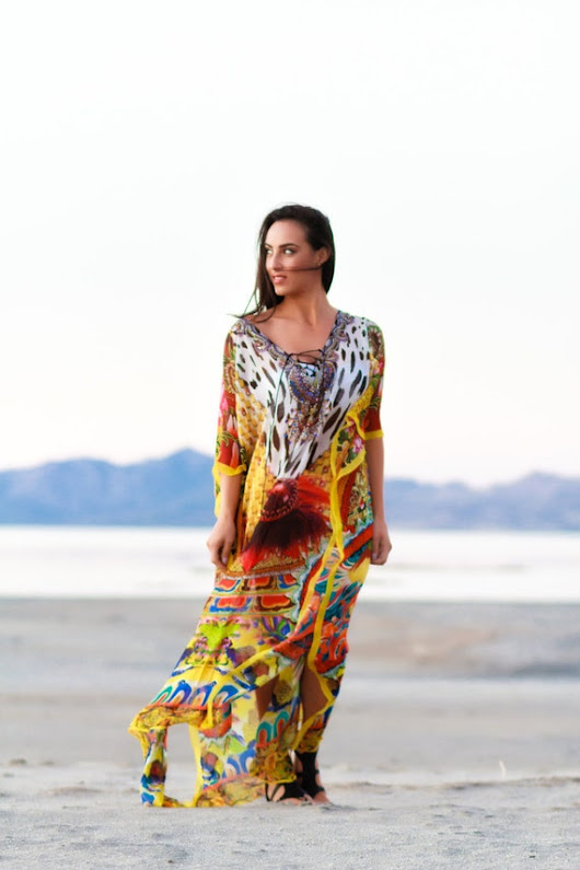 KAFTAN Dress beach caftan long gown maxi dress in animal print