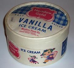 Mary Blair Gold Ice Cream carton