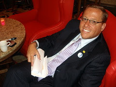 CHAIRMAN COLON relaxing at 2008 DNC, Denver