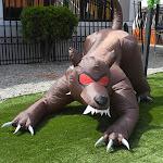 Aleko HLID060-UNB 6.5 ft. Inflatable Haunted Halloween Dog Hound