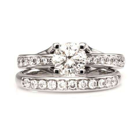 Solitaire Twin Rings, Engagement Rings, Wedding Rings in