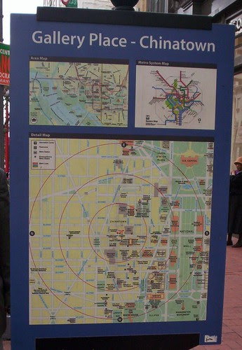 Map sign, Gallery Place