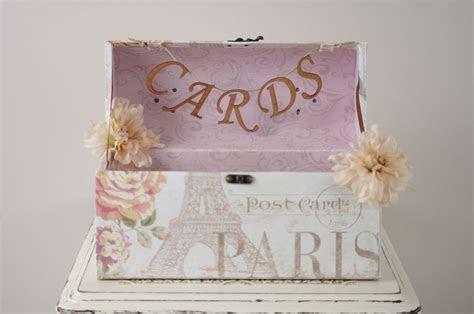 Paris Wedding Card Box Wedding Card Trunk with Romantic