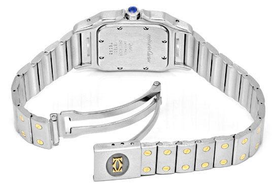 Foto 5, Cartier Santos Galbee Uhr Herren-Armband-Uhr Stahl-Gold, U1384