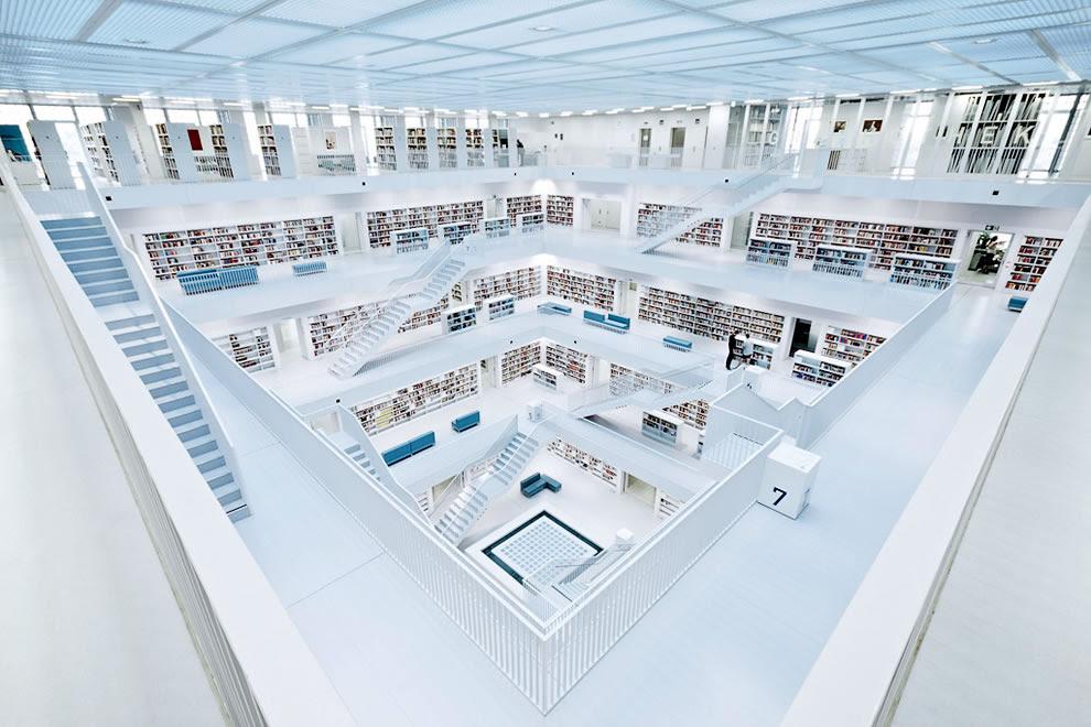 Stuttgart city library in Stuttgart, Germany
