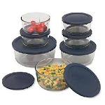 Corningware - Pyrex 6022369 CLR 14 Piece Storage Set pack of 2