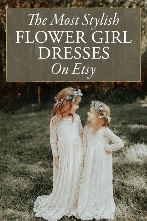 The Most Stylish Etsy Flower Girl Dresses   Junebug Weddings