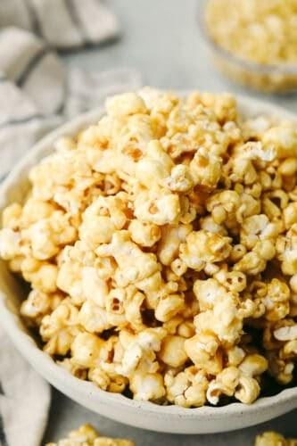 The BEST EVER Homemade Caramel Popcorn
