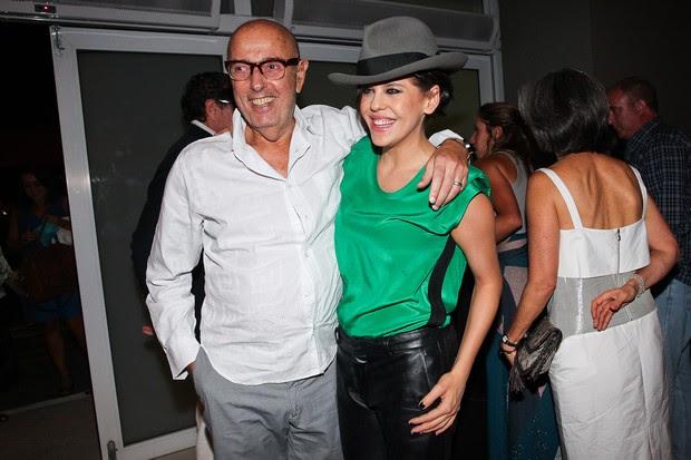 Bárbara Paz e o marido Hector Babenco no show de Chico Buarque em São Paulo (Foto: Manuela Scarpa/ Photo Rio News)