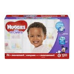 Huggies Little Movers Plus Diapers, Size 6 - 120 count