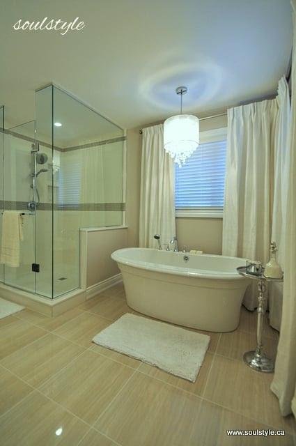 Remodelaholic | Elegant Neutral Bathroom Renovation