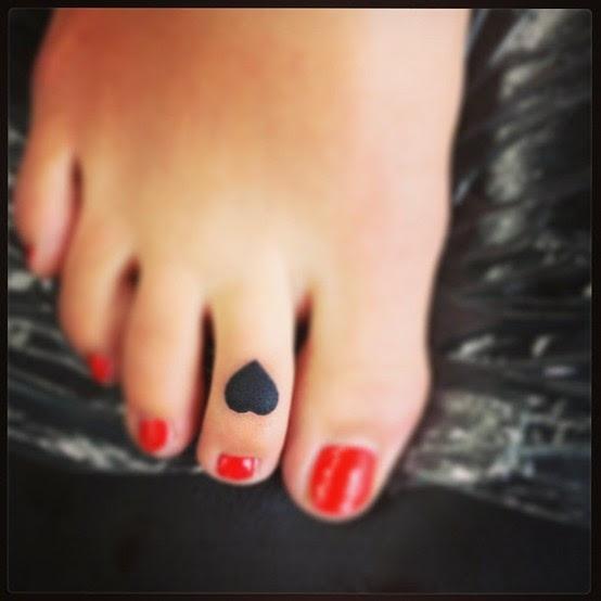 Black Heart Tattoos On The Foot Tattoomagz