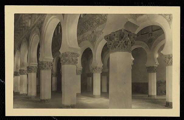 Sinagoga de Santa María la Blanca hacia 1960