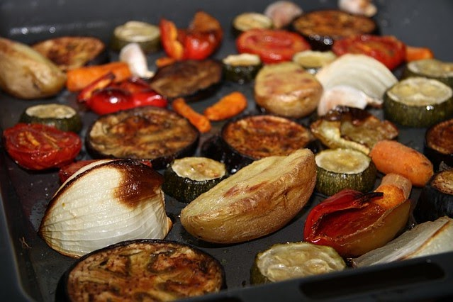 Salsa especial para verduras al horno mercado calabaj o - Verduras rellenas al horno ...