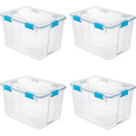 Sterilite 80 Quart Plastic Home Storage Gasket Box Container, Clear (4 Pack) at Spreetail (VMinnovations | VM Express)
