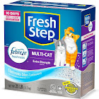 Fresh Step Premium Scoopable Clumping Cat Litter, for Multiple Cats - 25 lb box
