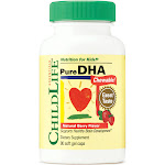 ChildLife Pure DHA Chewable, Natural Berry, 250 mg, Softgels - 90 count