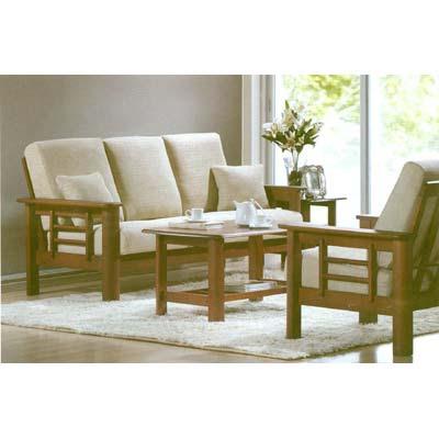 Traditional Classy Wooden Sofa Set Modern Livingroom