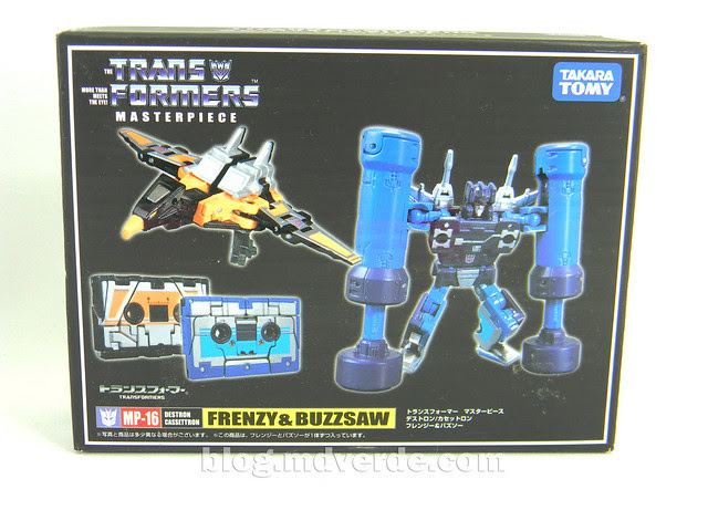 Transformers Frenzy & Buzzsaw Masterpiece - caja