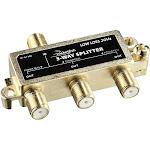 Rocketfish - 3-Way Coaxial Splitter - Gold