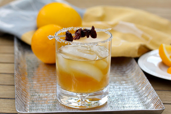Sidecar Cocktail with Dried Cherries | Karen's Kitchen Stories