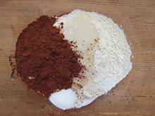 Moelleux chocolat chantilly aux fruits rouges vegan vegetalien